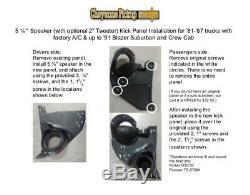81-87 BLACK Chevy GMC pickup Truck blazer suburban crew cab speaker Kick Panels