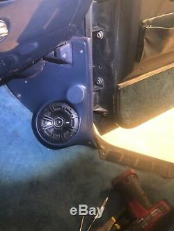 81-87 RED Chevy GMC pickup Truck blazer suburban crew cab speaker Kick Panels