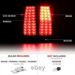 99-02 Chevy Silverado Truck 1500/2500/3500 LED RED/SMOKE Tail Light Brake Lamps