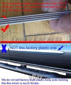 99-06 Chevy Silverado Crew Cab Flat Body Side Molding Stainless Steel Trim 2