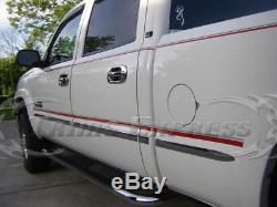 99-06 Silverado/Sierra Crew Cab 6.5' Short Bed Flat Body Side Molding Trim 1.5