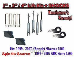 99 2006 CHEVY GMC 1500 Silverado Sierra CREW CAB 1 3 Keys / 4 Kit + SHOCKS