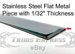 99-2006 Silverado/Sierra Crew Cab 6.5' Short Bed Flat Body Side Molding Trim 2
