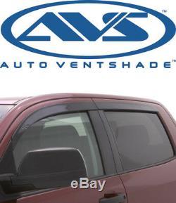AVS 894033 Low-Profile Ventvisor 4Pc Smoke 2014-16 Chevy Silverado GMC Crew Cab