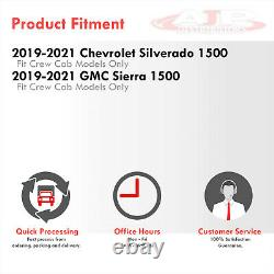 All-Season Floor Mats Liners Front+Rear For 2019-2021 Chevy Silverado 1500 Crew