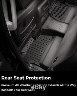 All Weather Floor Mats for 2014-2018 Chevy Silverado GMC Sierra 1500 Crew Cab