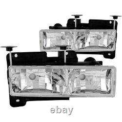 Anzo 111136 Headlight For 88-98 GMC C1500 Left and Right