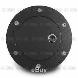 BLACK Gas door with lock for 07-13 Silverado Sierra Crew Ext Cab 1500 2500 3500