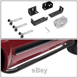 Black 3 Side Step Nerf Bar Board For 99-11 Chevy/gmc Silverado/sierra Crew Cab