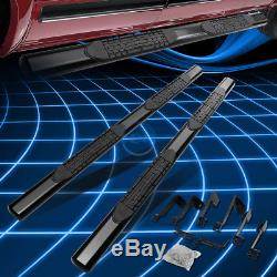 Black Oval 4 Side Step Nerf Bar/Rail for 2001-2016 Chevy Silverado Crew Cab 4dr