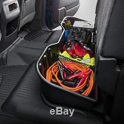 Black Underseat Storage Box for 2007-2019 Chevy Silverado GMC Sierra CREW CAB