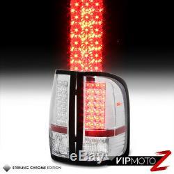 CHROME 07-14 Chevrolet Silverado Regular Extended Crew Cab LED Tail Light Lamp