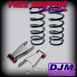 DJM Suspension Silverado Sierra 2/2 Lowering Drop Coils Shackle Kit Crew Cab