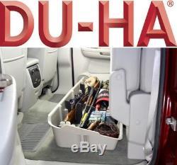 DU-HA 10042 Underseat Storage Gun Case 07-13 Chevy Silverado Crew Cab Dark Gray