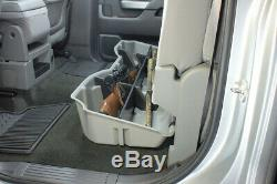 DU-HA 10300 Underseat Storage for Silverado Sierra 15-19 LD HD Crew Cab Black