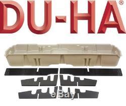 DU-HA 10303 Underseat Storage Gun Case Box 14-19 Chevy Silverado Crew Cab Brown