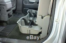DU-HA For Silverado Sierra 15-19 LD HD Crew Cab Black 10300 Underseat Storage