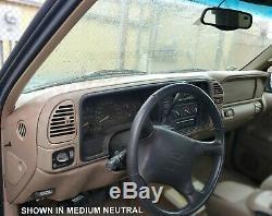 Dash Cover Overlay Skin 97 98 99 00 Suburban Tahoe Yukon (97-98 Silverado) Black