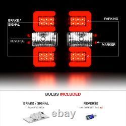 FULL LED! 14-18 Chevy Silverado OLED Black Smoke Tail Lights+CREE BackUp Bulbs