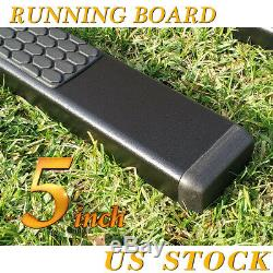 Fit 01-16 Chevy Silverado Crew Cab 5 Running Boards Side Step Nerf Bar BLK DH