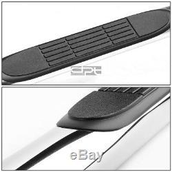Fit 07-16 Silverado/Sierra Crew Cab Chrome 3 Side Step Nerf Bar Running Board