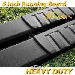 Fit 07-18 Silverado 1500 Crew Cab 5 BLK Running Board Nerf Bar Side Step H