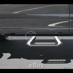 Fits 01-14 Silverado/Sierra Crew Cab Matte Blk Aluminum Drop Step Side Nerf Bars