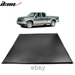 Fits 04-07 Silverado Sierra 1500 5'8 Crew Cab Bed Quad Fold LED Tonneau Cover