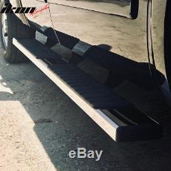 Fits 07-17 Silverado Sierra 1500 Crew Cab 6inch Nerf Bar Running Boards Chrome
