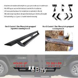 Fits 07-18 Chevy Silverado GMC Sierra Crew Cab IKON V1 Style Running Board Black