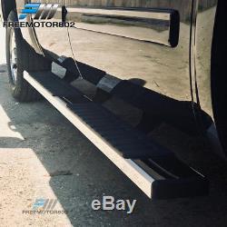 Fits 07-18 Chevy Silverado Sierra Crew Cab 6inch Nerf Bar Running Board Pair