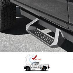 Fits 07-18 Silverado/Sierra Crew Cab Matte Blk Aluminum Drop Step Side Nerf Bars