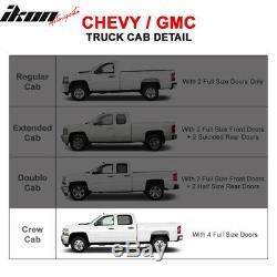 Fits 07-19 Chevy Silverado GMC Sierra Crew Cab 3 Inch Side Steps Running Boards