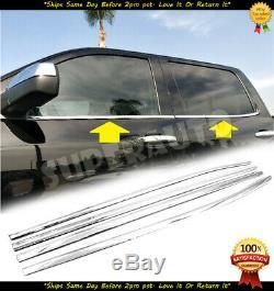 Fits 14-18 Silverado+Sierra 1500+25+3500 Crew Window Sill+Body Side Molding Set