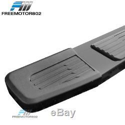 Fits 19-20 Silverado Sierra 1500 Crew Cab OE S6 Style Side Step Nerf Bar Black