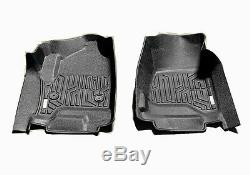 For14-18 Silverado Sierra Crew Cab 3D Floor Mat All Weather Protection TPE Liner