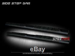 For 01-14 Silverado/Sierra Crew Cab 5 Matte Black Side Step Bars Running Boards