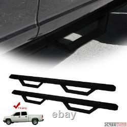 For 01-14 Silverado/Sierra Crew Matte Black Aluminum Modular Drop Step Nerf Bars