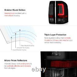 For 07-13 Chevy Silverado Black Smoked Lens LED Bar Brake Signal Lamp Tail Light