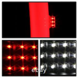 For 07-13 Chevy Silverado FULL LED NEON TUBE Black Tail Light Sequential Signal