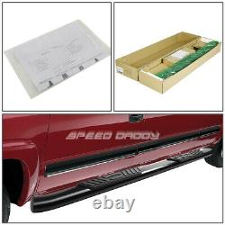 For 07-19 Chevy Silverado Crew 5black Curved Oval Step Nerf Bar Running Board