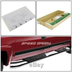 For 07-19 Chevy Silverado Crew 5chrome Curved Oval Step Nerf Bar Running Board