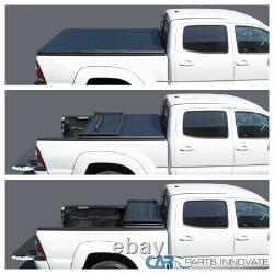 For 07-19 Silverado Sierra 1500 Crew Cab Pickup 5.8FT Bed Tri-fold Tonneau Cover