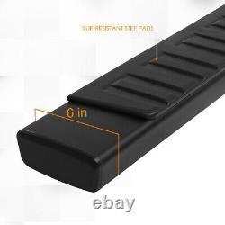 For 07-19 Silverado/Sierra Crew Cab 6 Side Step Nerf Bar Running Board Black