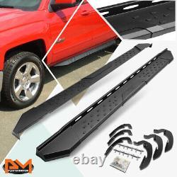 For 07-20 Silverado/Sierra Crew Cab 5.5 Side Step Nerf Bar Running Board Black