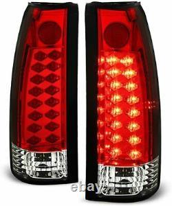 For 1988-1998 Chevy Silverado Suburban Tahoe Sierra C10 LED tail brake lights