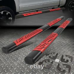 For 19-20 Silverado Sierra 5 Crew Cab Red Step Pads Side Bar Running Boards