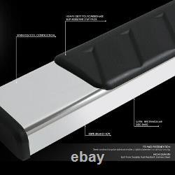For 19-20 Silverado Sierra Chrome 5 Crew Cab Flat Side Step Bar Running Boards