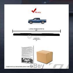 For 2001-2014 Silverado/Sierra Crew Cab 4 Matte Black Oval Side Step Nerf Bars