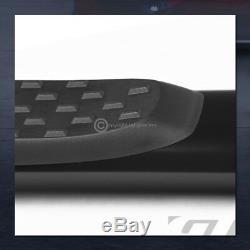 For 2001-2014 Silverado/Sierra Crew Cab 5 Oval Black Side Step Nerf Bars Boards